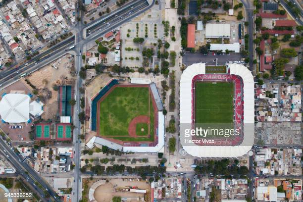 Aerial view of the Victoria Stadium prior the Championship match between Necaxa and Toluca as part of the Copa MX Clausura 2018 at Victoria Stadium...