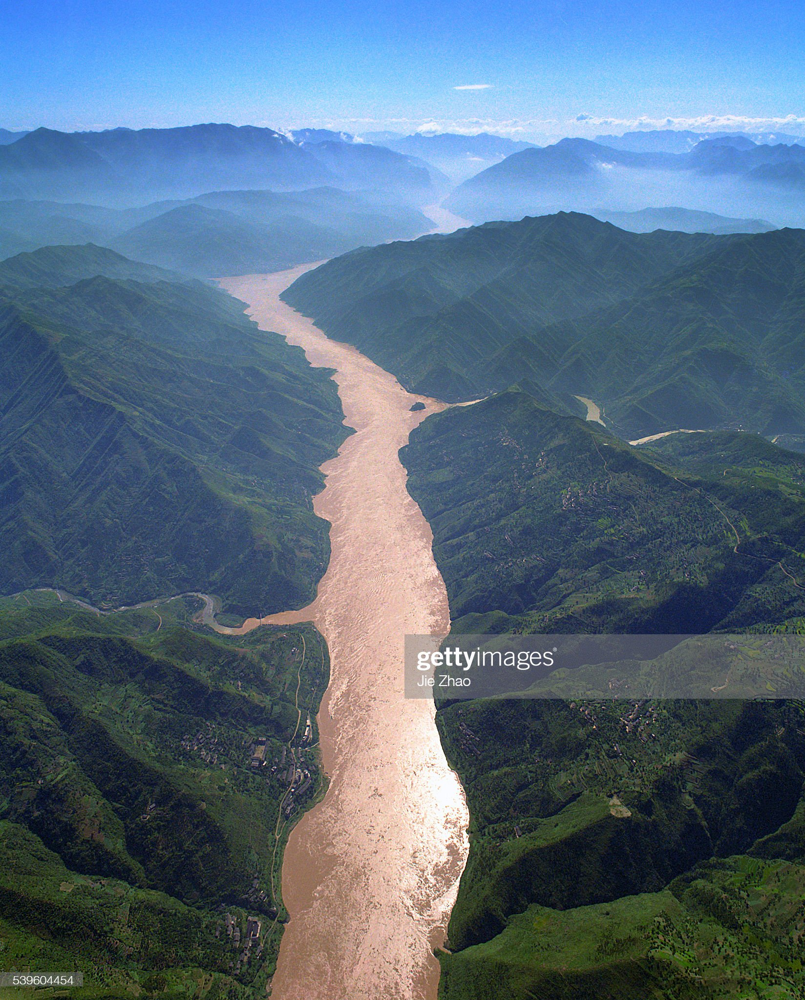 Aerial view of Three Gorges of Yangtze River in China : News Photo