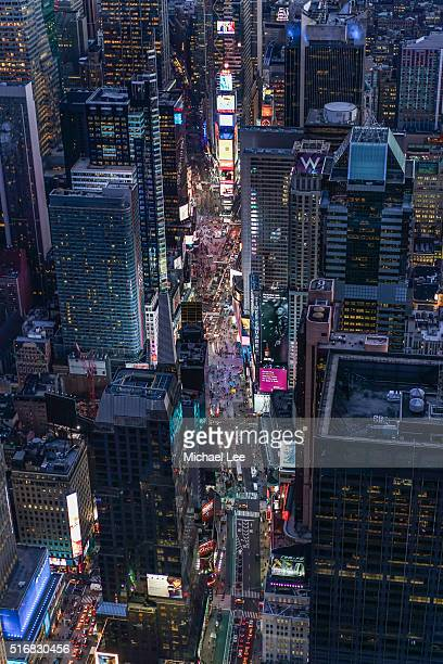 Aerial View of Times Square - New York