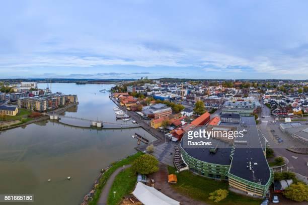 Aerial view of Tønsberg city, Norway