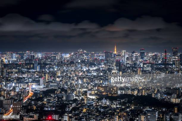 Aerial View of Tokyo at Night