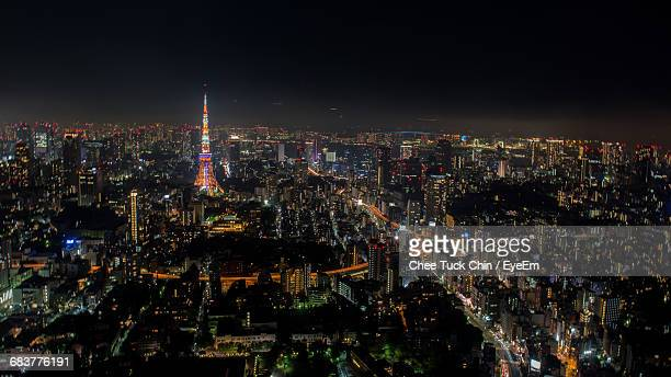 Aerial View Of Tokyo Cityscape At Night