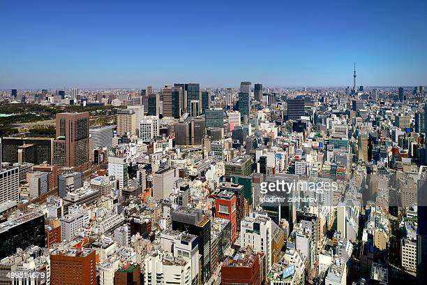 Aerial view of Tokyo Downtown