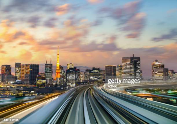 aerial view of tokyo japan - overhead view of traffic on city street tokyo japan stock photos and pictures