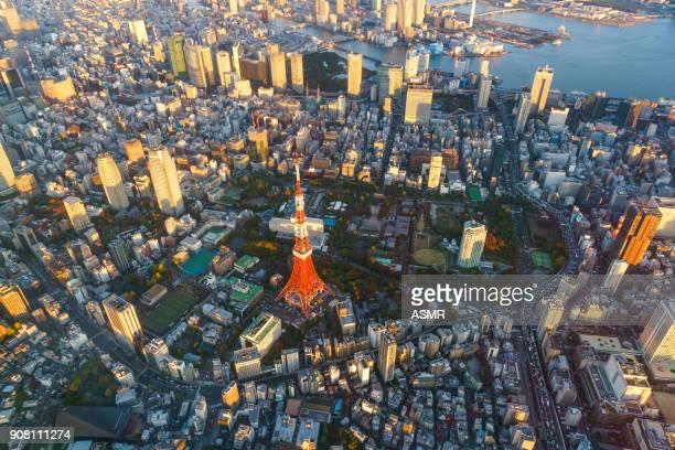 Luftaufnahme von Tokio japan