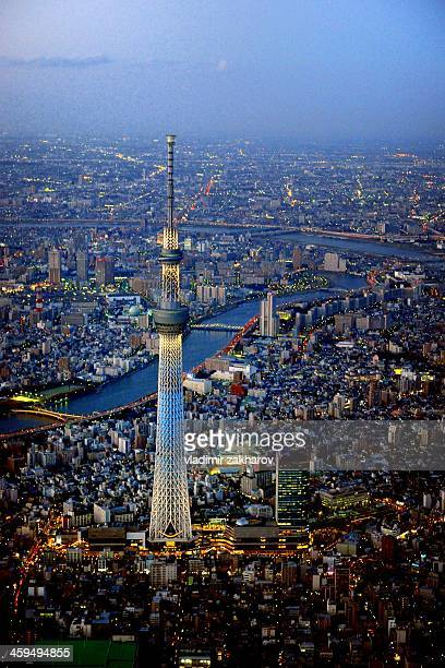 Aerial view of Tokyo