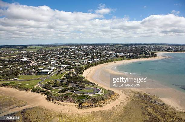 Aerial view of Torquay, Victoria.