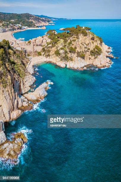 Aerial view of Tossa de Mar, Catalunya, Spain