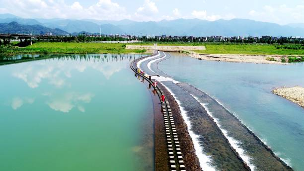 CHN: Tourists Walk On Stone Path In Taizhou