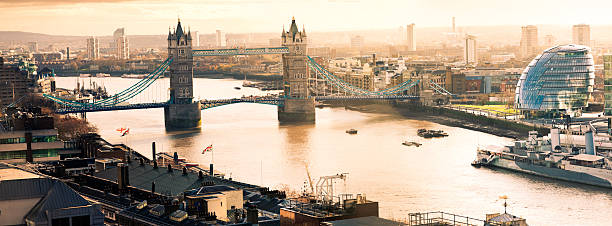 Aerial View Of Tower Bridgeand City Hall In London Wall Art