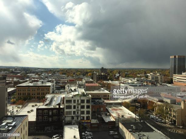aerial view of town - billings montana stock pictures, royalty-free photos & images