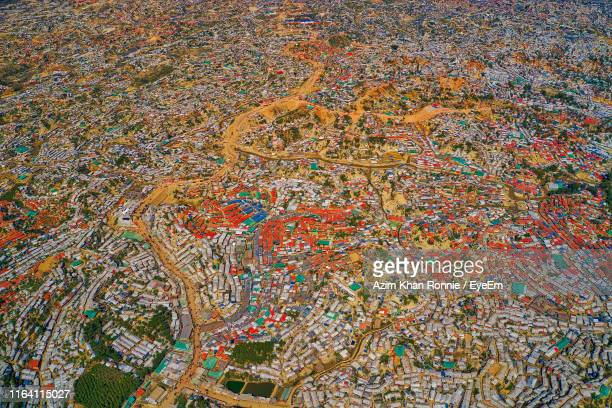 aerial view of townscape - チッタゴン ストックフォトと画像