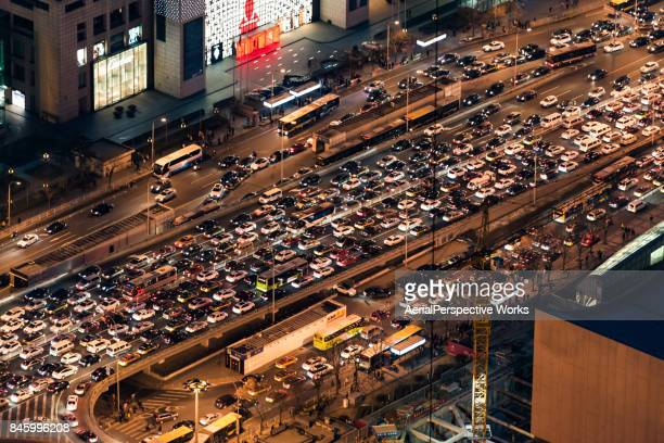 Aerial View of Traffic Jam