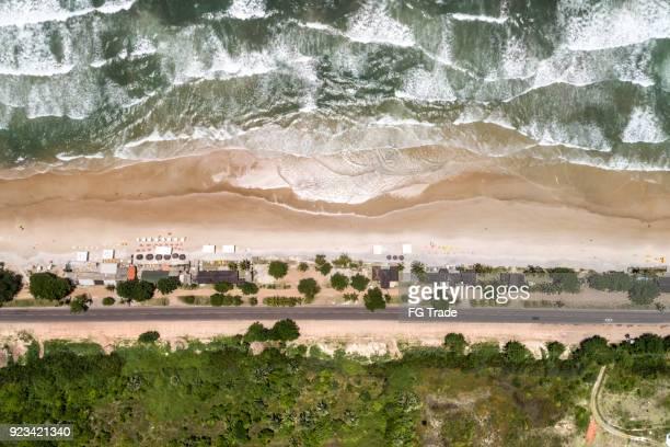 vista aérea de la playa tropical - paisajes de republica dominicana fotografías e imágenes de stock