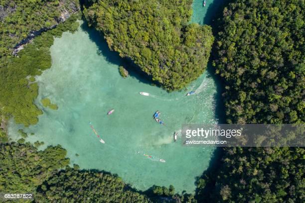 熱帯の島、タイの空撮