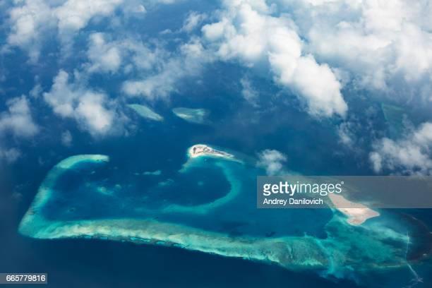 Luchtfoto van tropische eilanden