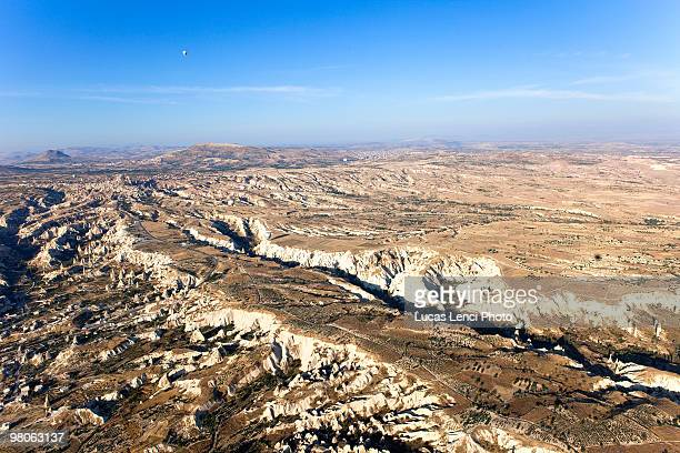 aerial view of turkey - central anatolia stock photos and pictures