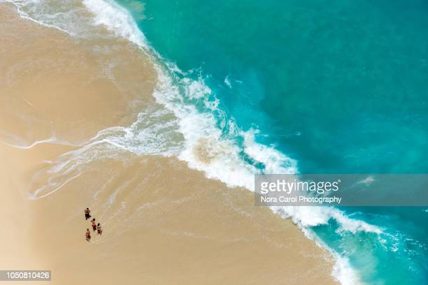 Aerial View of Turquoise Water and Beach at Nusa Penida Island