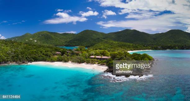 aerial view of turtle bay, caneel bay, st john