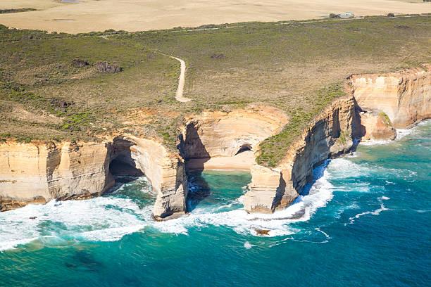 Aerial view of twelve apostles coast, Australia