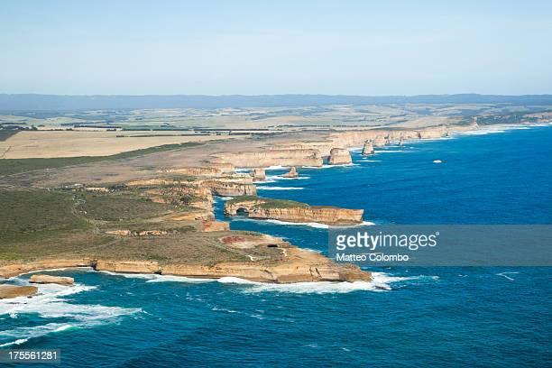 Aerial view of twelve apostles rocks Australia