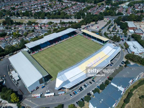 ENGLAND Aerial view of Twickenham Stoop Stadium home to Harlequins Rugby Union Team located 10 miles to the south west of Central London Aerial...