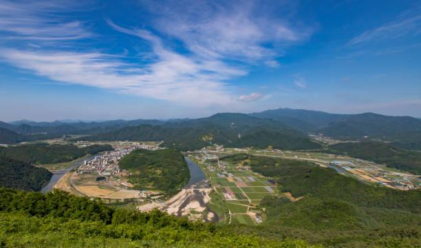 Aerial View of Uam Mountain, Pyeongchang, South Korea