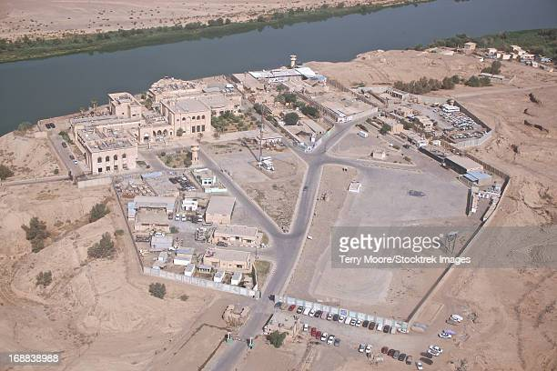 Aerial view of unknown forward operating base in Northern Iraq.