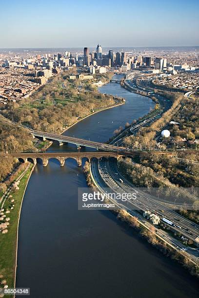 Aerial view of Upper Darby, Pennsylvania