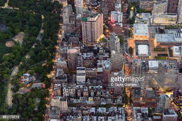 Aerial View of Upper West Side Manhattan