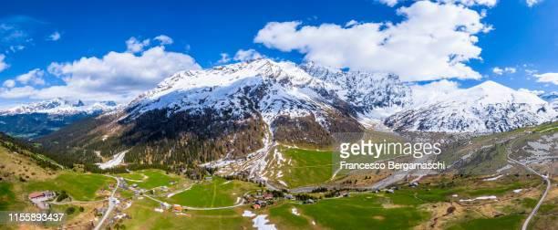 Aerial view of Val Radons(Radons valley), Albula region, Canton of Grisons, Switzerland, Europe.