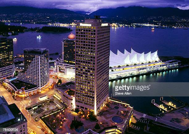 Aerial view of Vancouver Trade and Convention Center