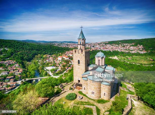 aerial view of  veliko tarnovo old town - bulgaria stock pictures, royalty-free photos & images