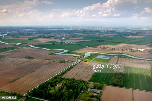 aerial view of veneto, italy, europe - veneto stock pictures, royalty-free photos & images