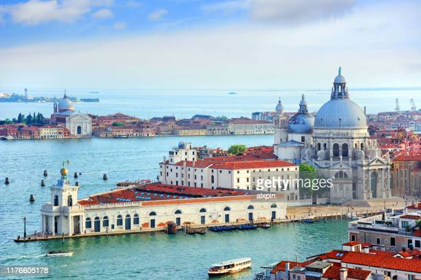 aerial view of venice, italy - venice stock pictures, royalty-free photos & images