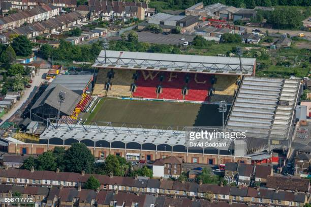 WATFORD ENGLAND JUNE 05 Aerial view of Vicarage Road home to Watford Town football club on June 05 2008