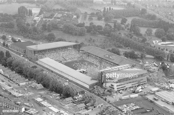 Aerial View of Villa Park football ground showing large crowd gathering ahead of Bruce Springsteen Concert Birmingham Tuesday 21st June 1988