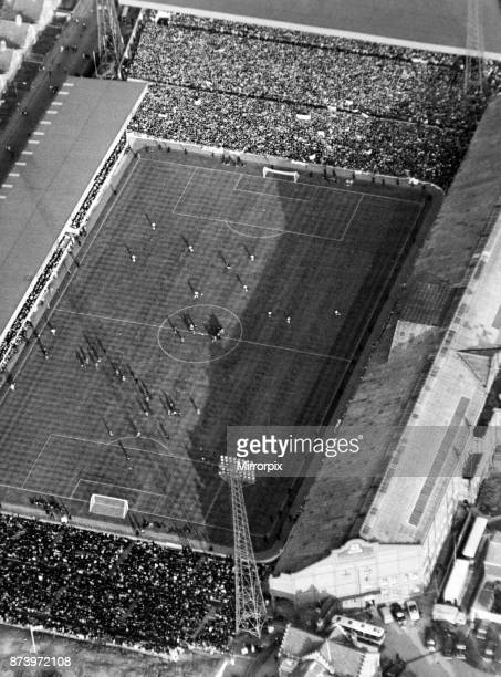 Aerial view of Villa Park football stadium home to Aston Villa Football Club West Germany v Spain FIFA World Cup Finals group 2 20th July 1966