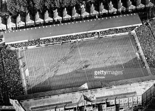 Aerial view of Villa Park football stadium home to Aston Villa Football Club 25th July 1966