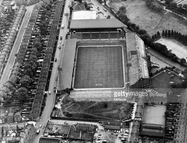 Aerial view of Villa Park football stadium home to Aston Villa Football Club 25th August 1968