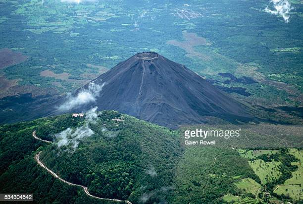 aerial view of volcan santa ana - el salvador stock pictures, royalty-free photos & images