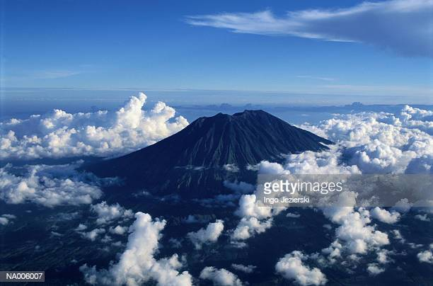 Aerial View of Volcano