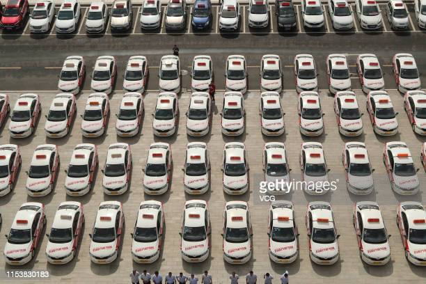 Aerial view of volunteer drivers and vehicles to provide free pickup and delivery service for students who attend the upcoming 2019 National College...
