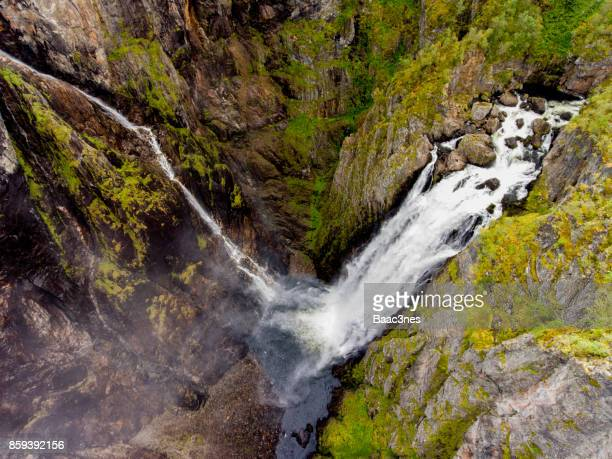 Aerial view of Vøringfossen waterfall,Norway