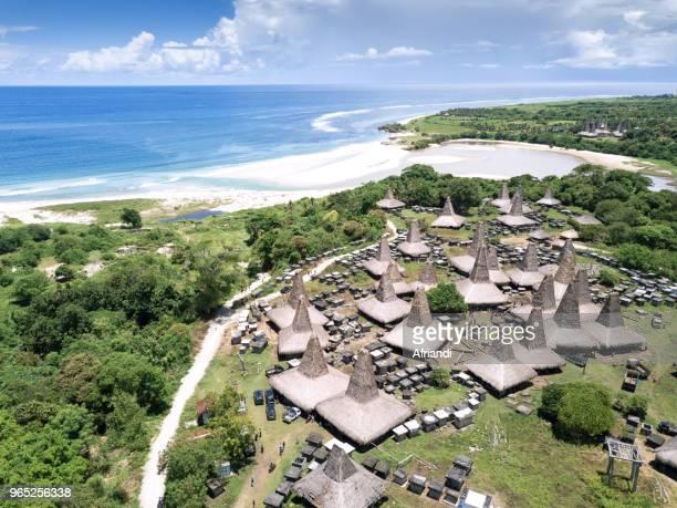Aerial view of Wainyapu village, Sumba Island, Indonesia