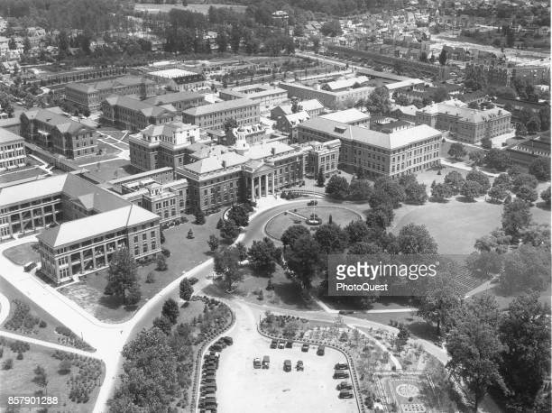 Aerial view of Walter Reed General Hospital Washington DC 1931 Among others the main building with its cupola is at center