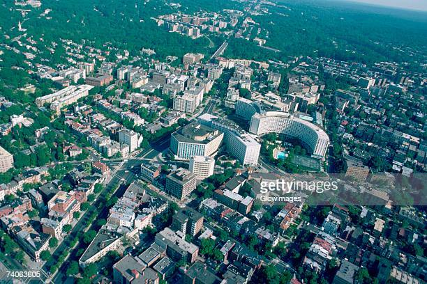 Aerial view of Washington, DC apartments