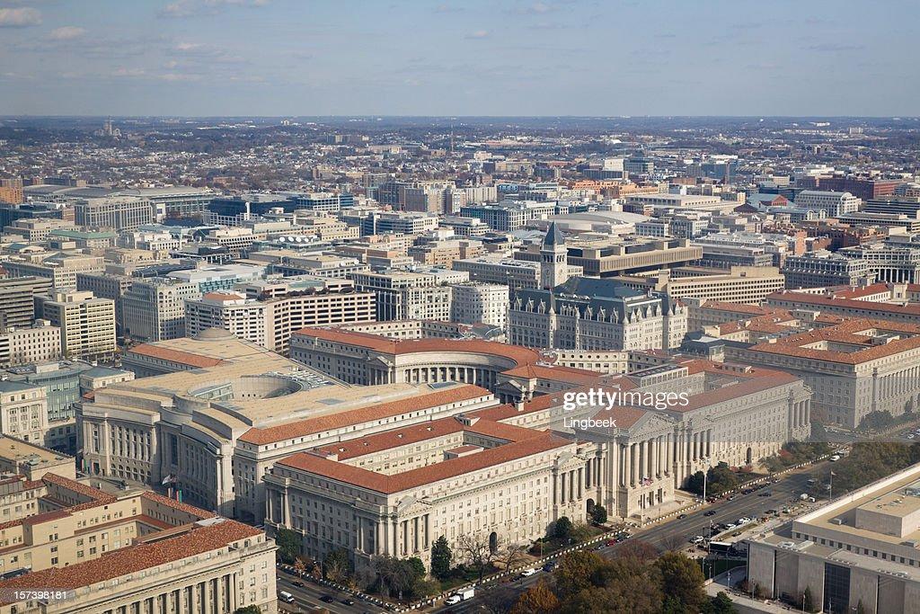 Aerial view of Washington DC : Stock Photo