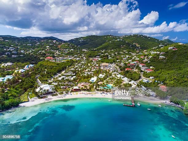 空から見た海湾、St.Thomas 、アメリカ領バージン諸島