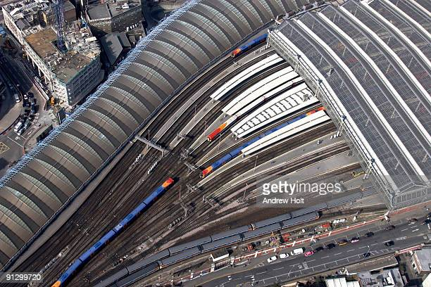 Aerial view of Waterloo train station